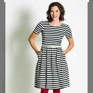 Black and white stripe Amelia dress